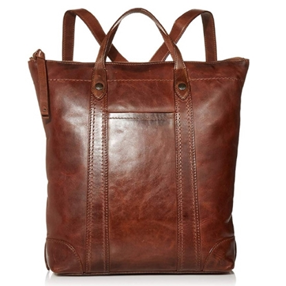 Picture of Frye Melissa Zip Backpack - Cognac