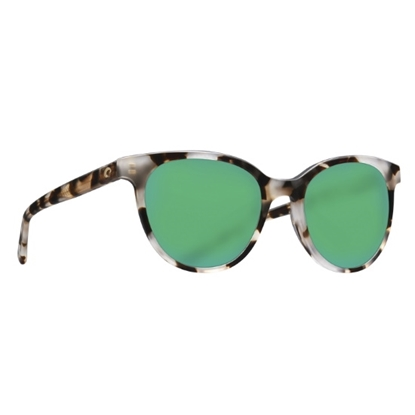Picture of Costa Isla - Shiny Tiger Cowrie w/ Green Mirror Polarized Lens