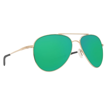 Picture of Costa Cook - Shiny Gold with Green Mirror Polarized Lens
