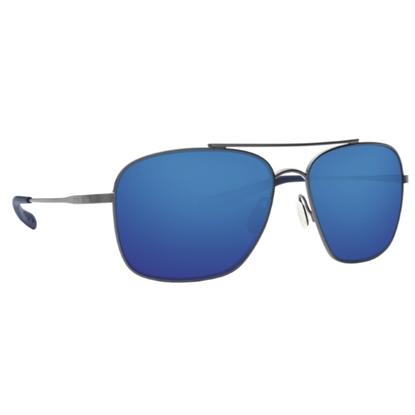 Picture of Costa Canaveral - Brushed Gray with Blue Mirror Polarized Lens