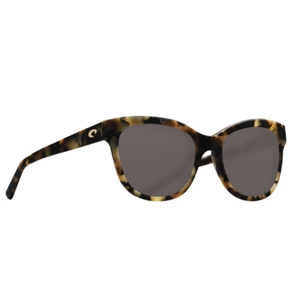 Picture of Costa Bimini - Shiny Vintage Tortoise with Gray Polarized Lens