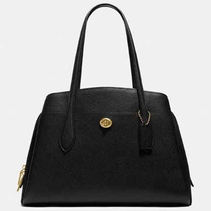 Picture of Coach Leather Lora Carryall - Brass/Black