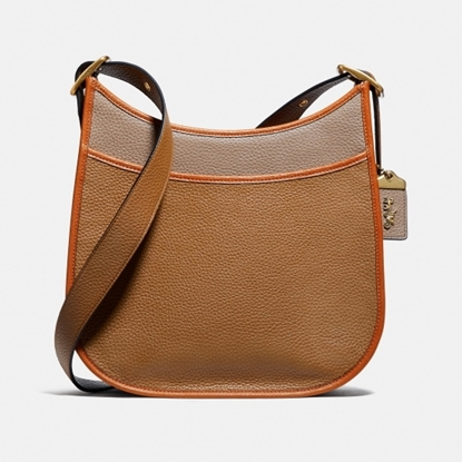 Picture of Coach Colorblock Emery Crossbody - Light Saddle Elm