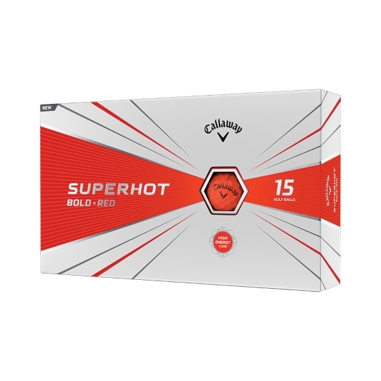 Picture of Callaway Superhot Bold Red Golf Balls - 30-Pack