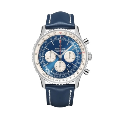 Picture of Breitling Navitimer B01 Chrono 46 with Blue Dial & Blue Strap