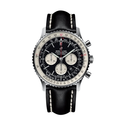 Picture of Breitling Navitimer B01 Chrono 46 with Black Leather Strap