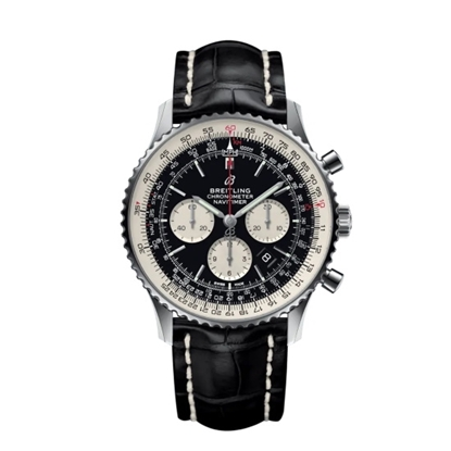 Picture of Breitling Navitimer B01 Chrono 46 with Black Croco Strap