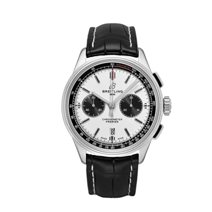 Picture of Breitling Premier B01 Chrono 42 with Black Leather Strap