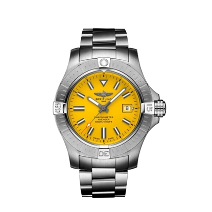 Picture of Breitling Avenger Auto 45 Seawolf - Steel with Yellow Dial