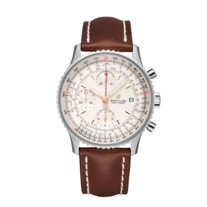 Picture of Breitling Navitimer Chrono 41 with Brown Leather Strap