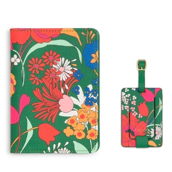 Picture of Ban.do Getaway Luggage Tag & Passport Holder - Superbloom