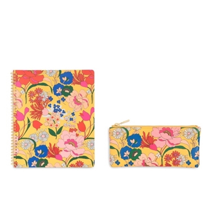 Picture of Ban.do Get It Together Pencil Pouch & Notebook - Superbloom