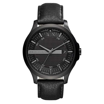 Picture of Armani Exchance Hampton Watch with Black Leather Strap