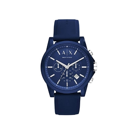 Picture of Armani Exchange Active Watch with Blue Silicone Strap
