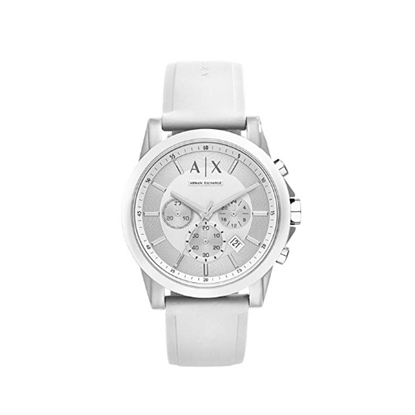 Picture of Armani Exchange Active Chrono Watch with White Strap