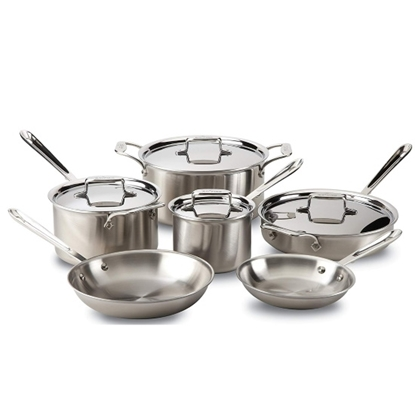 Picture of All-Clad D5 10-Piece Stainless Steel Cookware Set