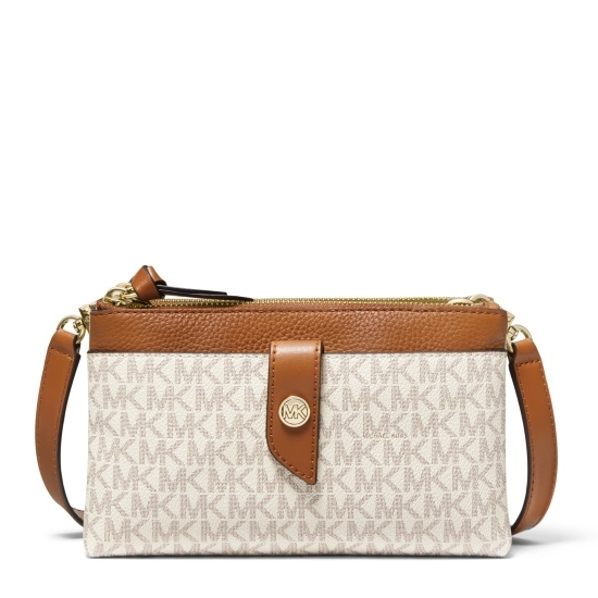 Picture of Michael Kors Charm Signature Tab Phone Crossbody