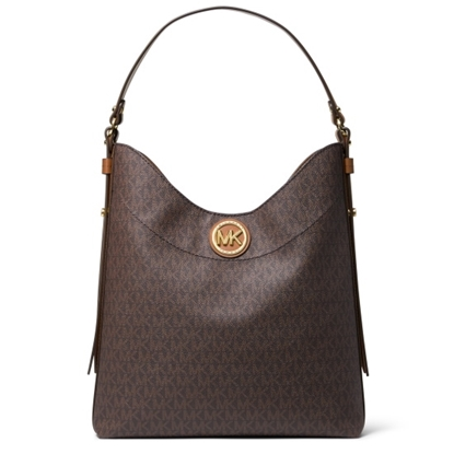 Picture of Michael Kors Bowery Signature Large Hobo Shoulder