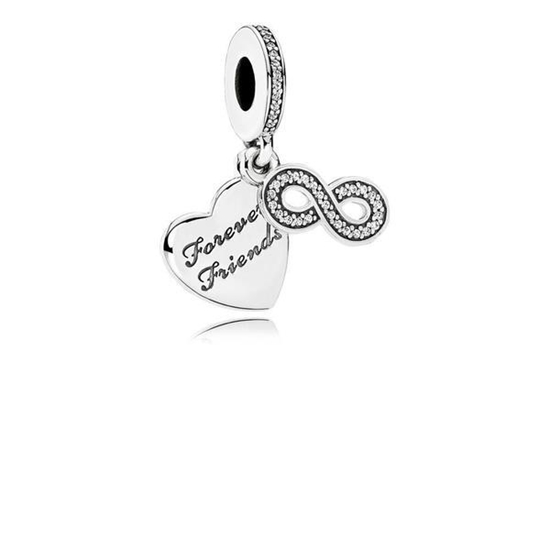 Picture of Pandora® Forever Friends Heart Dangle Charm