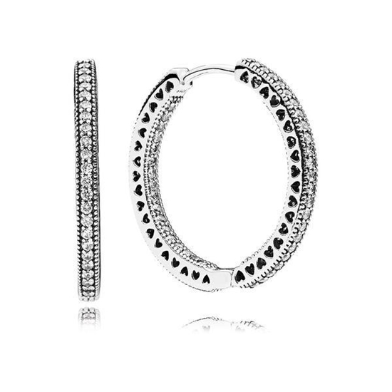 Picture of Pandora® Heart of Hoop Earrings