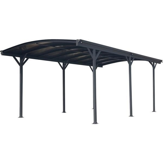 Picture of Hanover 19-foot x 10-foot Aluminum Arch-Roof Carport with Polycarbonate Roof Panels