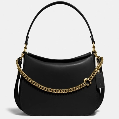 Picture of Coach Leather Signature Chain Hobo