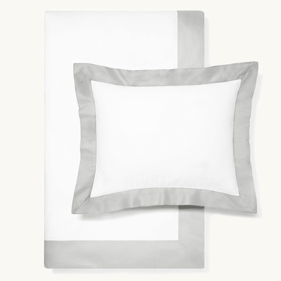 Picture of Boll & Branch Colorblock Full/Queen Duvet Set