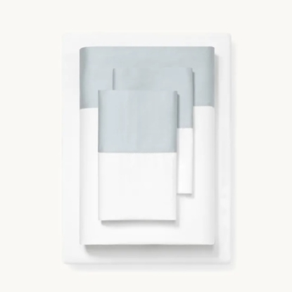 Picture of Boll & Branch Colorblock California King Sheets