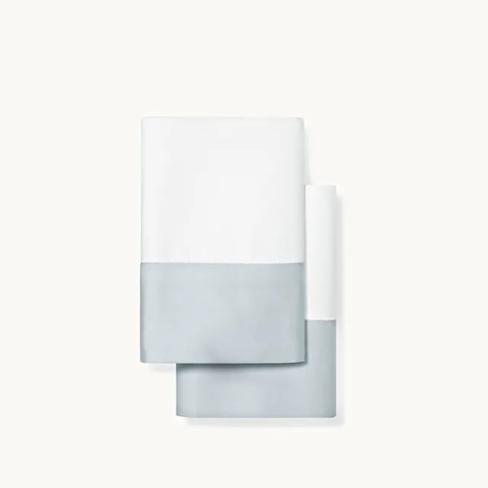 Picture of Boll & Branch Colorblock Standard Pillowcase Set