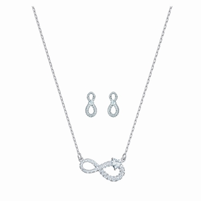 Picture of Swarovski Infinity Necklace and Earring Set