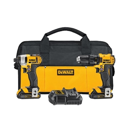 Picture of DeWalt 20V MAX* Li-ion Compact Drill/Driver/Impact Driver Kit