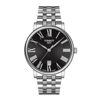Picture of Tissot Carson Premium Stainless Steel Watch with Black Dial