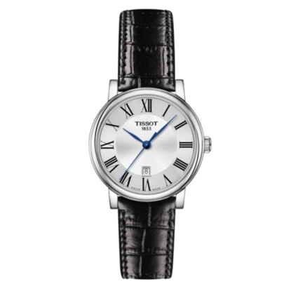 Picture of Tissot Carson Premium with Black Leather Strap & Silver Dial