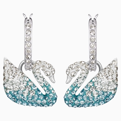 Picture of Swarovski Iconic Swan Pierced Earrings - Rhodium