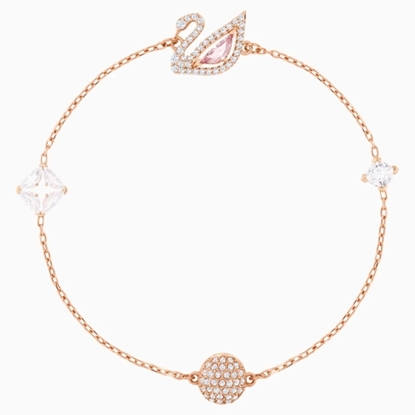 Picture of Swarovski Dazzling Swan Bracelet Medium - Rose Gold