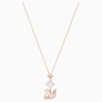 Picture of Swarovski Dazzling Swan Y Necklace - Rose Gold