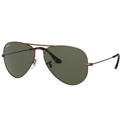 Picture of Ray-Ban® Aviator - Sand Brown Frame w/ Green Crystal Lens