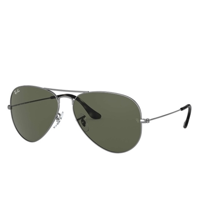 Picture of Ray-Ban® Aviator - Sand Grey Frame with Green Crystal Lens