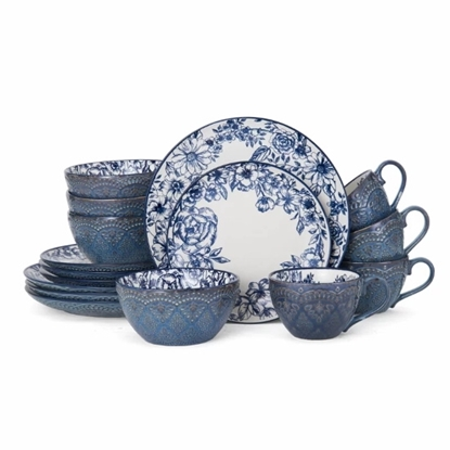 Picture of Pfaltzgraff Gabriela Blue 16-Piece Dinnerware Set