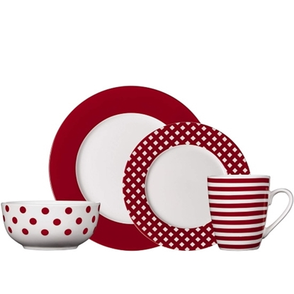 Picture of Pfaltzgraff Kenna Red 16-Piece Dinnerware Set