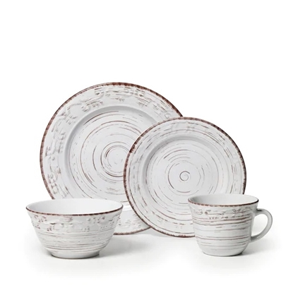 Picture of Pfaltzgraff Trellis White 16-Piece Dinnerware Set
