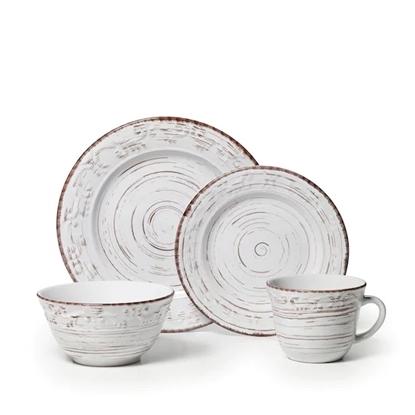 Picture of Pfaltzgraff Trellis White 16-Piece Dinnerware Set