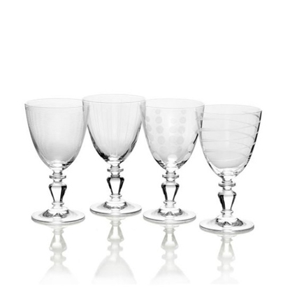 Picture of Mikasa Cheers Vintage 9.75oz. White Wine Glasses - Set of 4