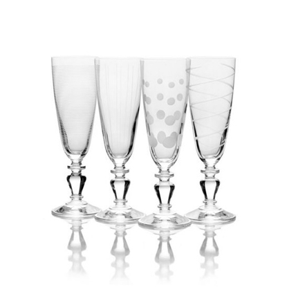 Picture of Mikasa Cheers Vintage 5.75oz. Flute Glasses - Set of 4