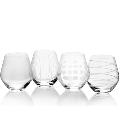 Picture of Mikasa Cheers 19.75oz. All Purpose Stemless Glasses - Set of 4