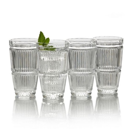 Picture of Mikasa Carroll Gate 11oz. Highball Glasses - Set of 4
