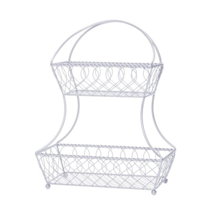 Picture of Mikasa Gourmet Basics Flatback 2-Tier Basket - White