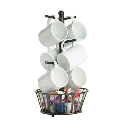 Picture of Mikasa Gourmet Basics Band & Stripe Basket with Mug Tree