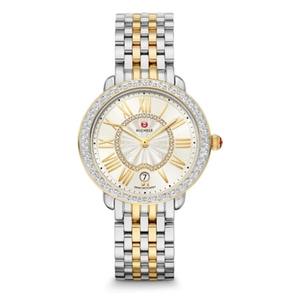 Picture of Michele Serein Two-Tone Stainless Steel Diamond Watch