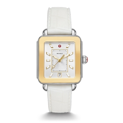 Picture of Michele Deco Sport Two-Tone Watch with White Silicone Strap